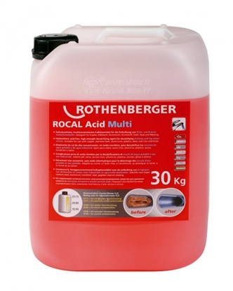 Attēls no ROTHENBERGER Koncentrāts ROCAL Acid Multi, 30 kg,