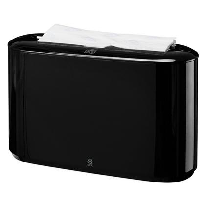 Attēls no SCA Salvešu turētājs TORK Xpress Countertop Multifold, 323 x 218 x 116 mm, melnā krāsā