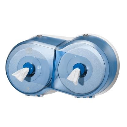 Изображение SCA Tualetes papīra turētājs TORK SmartOne Mini Double, 240 x 416 x 180 mm, gaiši zilā krāsā