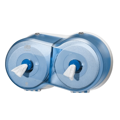 Picture of SCA Tualetes papīra turētājs TORK SmartOne Mini Double, 240 x 416 x 180 mm, gaiši zilā krāsā