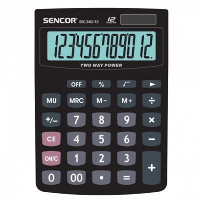Attēls no Calculator Office SENCOR SEC 340/12
