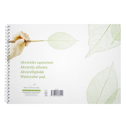 Picture of SMILTAINIS Akvareļu zīmēšanas albums    A4 formāts,200 g, 20 lapas