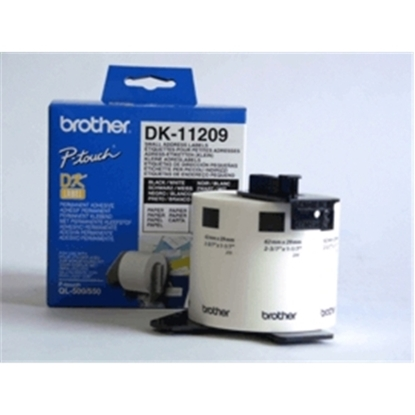 Attēls no Brother DK-11209 Small Address Labels White, DK, 29mm x 62mm
