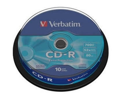 Attēls no VERBATIM CD-R   700MB 1x-52x Extra Protection, 10 Pack Spindle