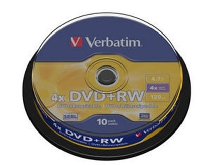 Изображение Matricas DVD+RW SERL Verbatim 4.7GB 4x 10 Pack Spindle