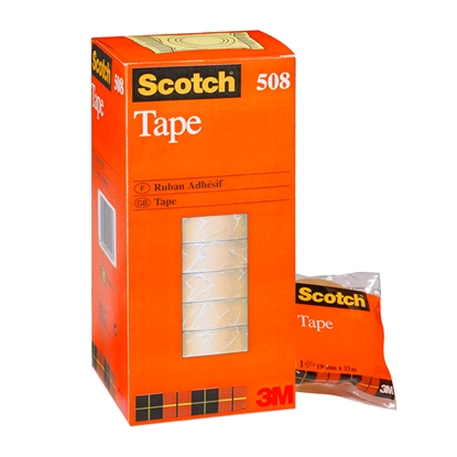 Picture of 3M Līmlente SCOTCH 508, caurspīdīga, 19mm x 3 , 1 gb.