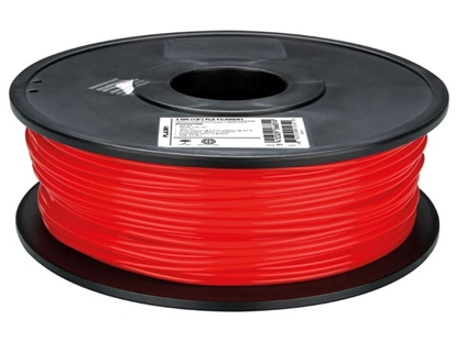 Attēls no ABS175R1 Velleman ABS filament wire 1.75mm for 3D printing 1kg spool, red