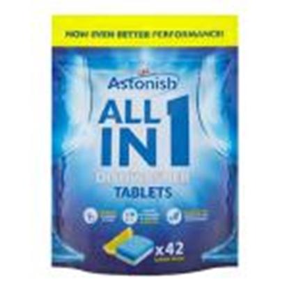 Picture of ASTONISH ALL in 1 tabletes trauku mazgājamām mašīnām,  42gab.
