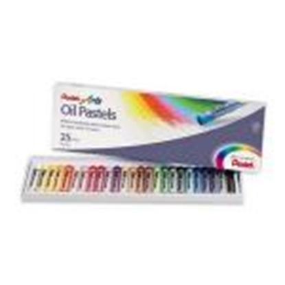 Изображение Eļļas pasteļkrītiņi 25 krāsas OIL PASTELS PENTEL
