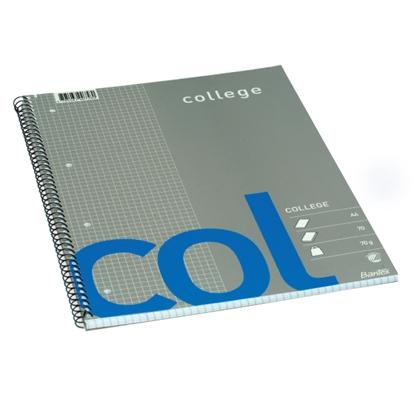 Picture of HAMELIN Klade ar spirāli BANTEX College, A4 formāts, 70 lapas, rūtiņu