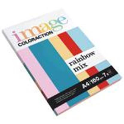 Attēls no Krāsains papīrs IMAGE C. Rainbow Mix A4 160g/m2,  7x10 lapas