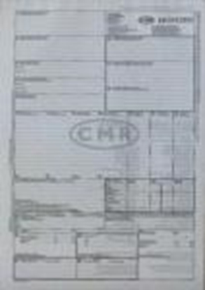 Attēls no Muitas deklarācijas CMR 6 lapas ar numuriem