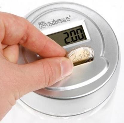 Изображение (CDET1) Velleman Euro monētu krājkase ar skaitītāju CDET1