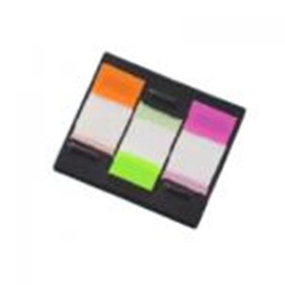Picture of *Indeksi 20x48mm,  20 lapiņas,  3 krāsas,  Z-veida caurspīdīgas