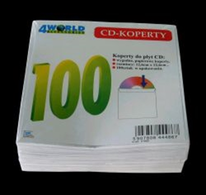 Picture of 4WORLD   CD/DVD paper envelopes, 100 pcs.