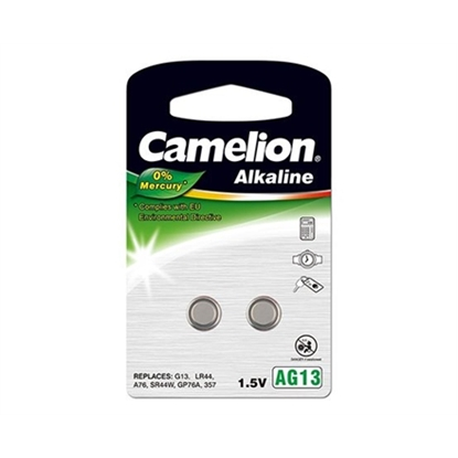 Picture of Camelion AG13/LR44/357, Alkaline Buttoncell, 2 pc(s)