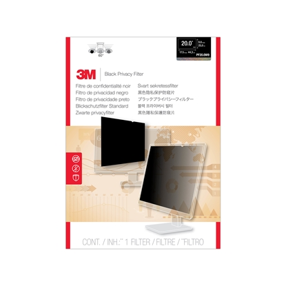 "Attēls no 3M F20.0W9 Privacy Filter for LCD Monitor 20"" Black, 443 x 250 mm"
