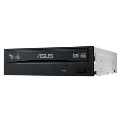 Attēls no Asus DRW-24D5MT Internal, Interface SATA, DVD±RW, CD read speed 48 x, CD write speed 48 x, Black, Desktop