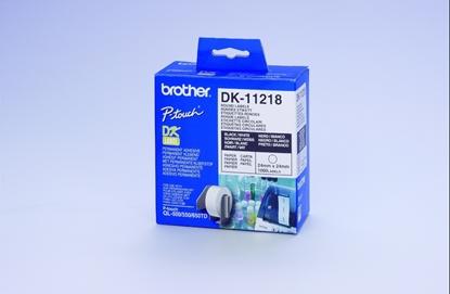 Attēls no Brother DK-11218 Round Labels White