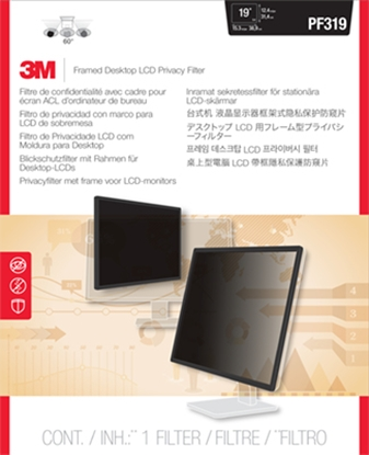 "Изображение 3M 98044044612 display privacy filters Framed display privacy filter 48.3 cm (19"")"