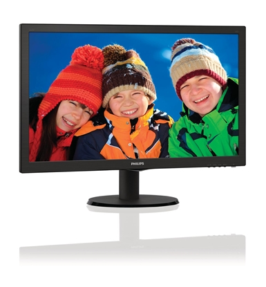 "Изображение Philips 223V5LSB/00 21.5 "", Full HD, 1920 x 1080 pixels, 16:9, LED, LCD/TFT, 5 ms, 250 cd/m², Black"