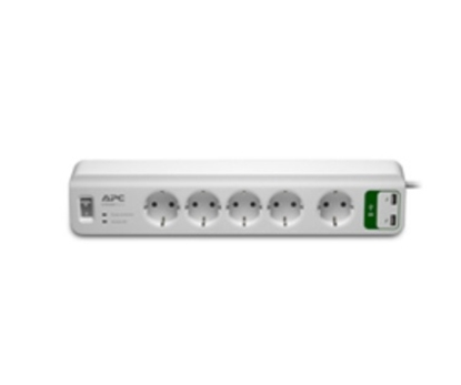 Изображение APC Essential SurgeArrest 5 outlets with 5V, 2.4A 2 port USB charger 230V Germany