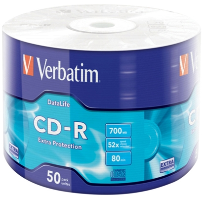 Изображение CD-R Verbatim [ 50 pcs, 700MB, 52x, wrap] EXTRA PROTECTION