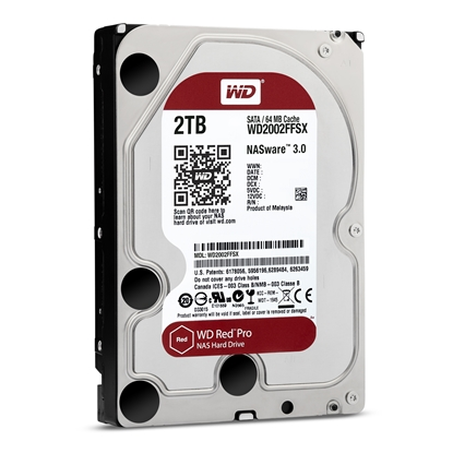 Picture of Internal HDD WD Red Pro 3.5'' 2TB SATA3 64MB IntelliPower, 24x7, NASware™