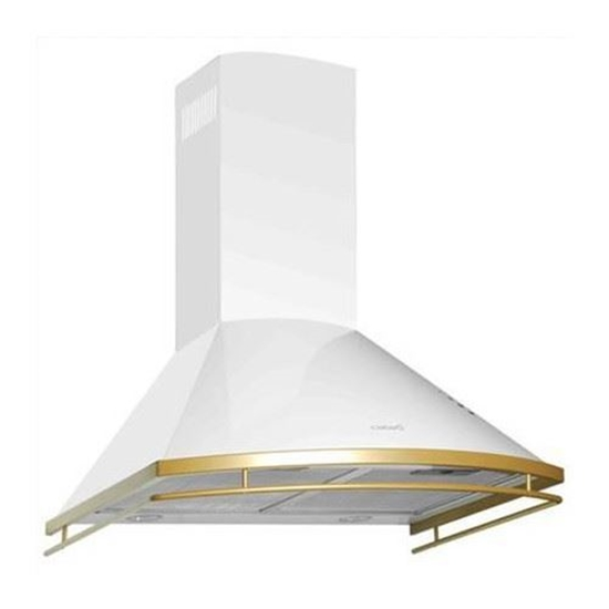 Picture of Cata Clasica 600 Blanca/B, Wall hood, ,,Chimney'' type, 740 kub.m, 2x50W Lamps, Outflow: ...