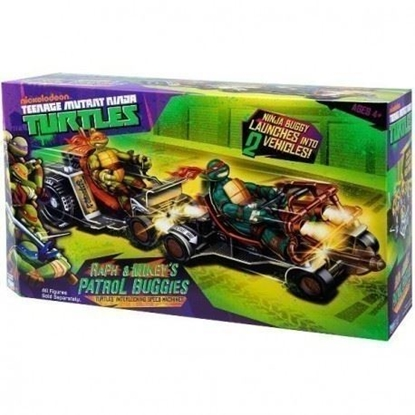 Attēls no PLAYMATES TOYS TURTLES Patrol Buggy Raph&Mike