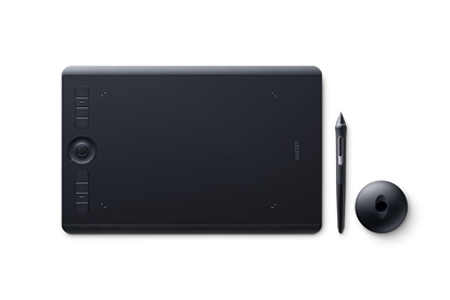 Изображение Wacom Intuos Pro 5080lpi 224 x 148mm USB/Bluetooth Black graphic tablet