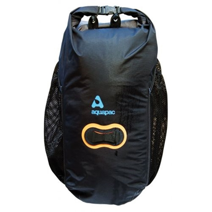 Attēls no AQUAPAC Wet and Dry Backpack 25 L / Melna / Oranža / 25 L