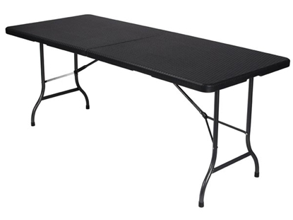 Attēls no FP180R Velleman saliekamais galds Velleman FOLD-IN-HALF TABLE - WITH RATTAN PATTERN - 180 x 75 x 74
