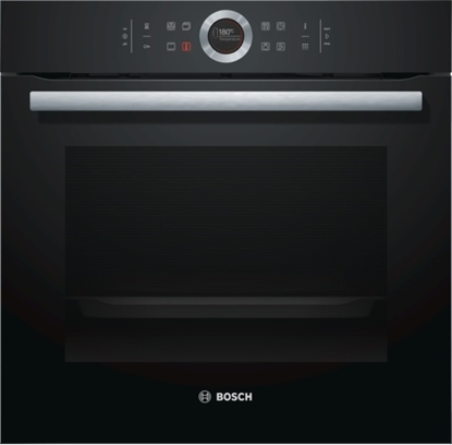 Изображение Bosch Oven HBG672BB1S Built in, 71 L, Black, Pyrolysis, A+, Touch plus control ring, Height 60 cm, Width 60 cm, Integrated timer