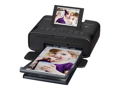 Attēls no Canon Printer for creating unique prints from compatible smart devices, cameras and more  Selphy CP1300 Colour, Dye-sublimation thermal transfer printing system, Portable, Wi-Fi, Black