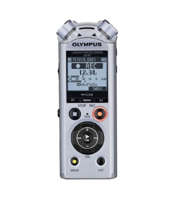 Attēls no Olympus LS-P1 96kHz/24bit Linear PCM, Digital, Stereo, LCD, Microphone connection