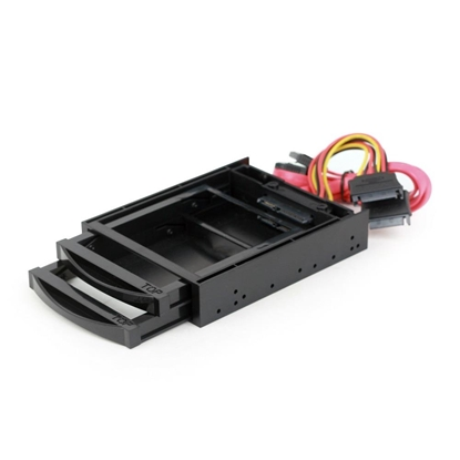 Picture of Gembird 3.5 mobile rack for 2 SATA 2.5 drives Black
