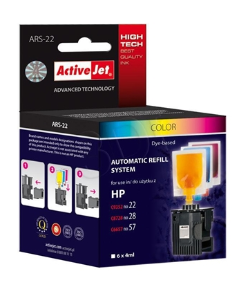 Attēls no Ink ActiveJet ARS-22 (replacement ; 6 x 4 ml; MultiColor)