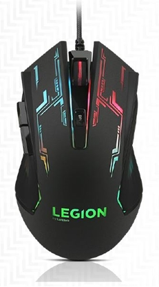 Attēls no Lenovo Mouse Legion M200  Wired, No, No, RGB Gaming Mouse, Black