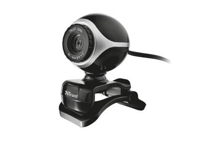 Attēls no CAMERA WEBCAM USB2 EXIS/BLACK/SILVER 17003 TRUST