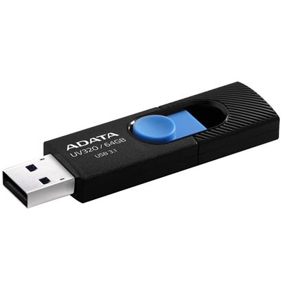 Attēls no ADATA UV320 64GB USB 3.1 (3.1 Gen 2) Type-A Black, Blue USB flash drive