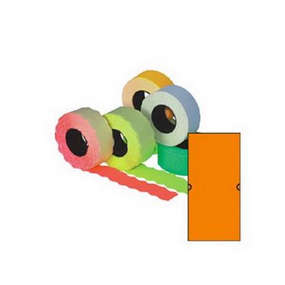 Attēls no AURIKA Marķēšanas pistoļu uzlīmes kvadrātiņi, 21.5x12 mm, 5 gab., oranžas