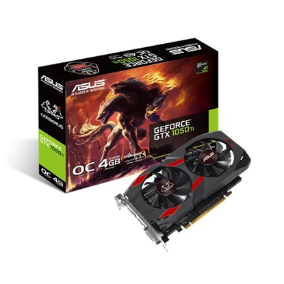 Attēls no Asus Cerberus Advanced Edition NVIDIA, 4 GB, GeForce GTX 1050 Ti, GDDR5, PCI Express 3.0, Processor frequency 1328 MHz, DVI-D ports quantity 1, HDMI ports quantity 1, Memory clock speed 7008 MHz