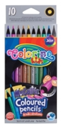 Attēls no COLORINO Coloured pencils   METTALIC, 10 colours