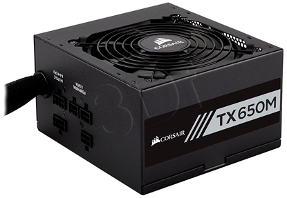 Picture of CORSAIR   Power Supply TX650M, 650W, 80 Plus® Gold, Semi-Modular, 120mm
