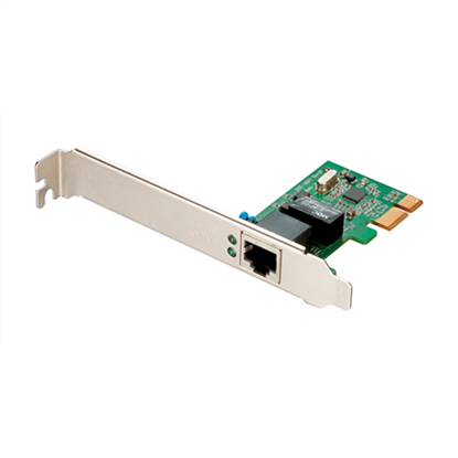 Picture of D-LINK DGE-560T, (Bulk) Managed Gigabit PCI-Express NIC, 1-port 100/1000 Mbps UTP with RJ-45 connector, (IEEE802.3ab), Full-Duplex, X1 PCI Express Serial Link, 802.3x Flow Control, 802.1Q VLAN tagging
