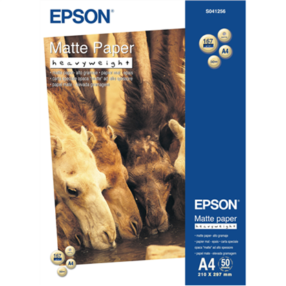 Attēls no Epson Matte Paper Heavy Weight, DIN A4, 167g/m², 50 Sheets