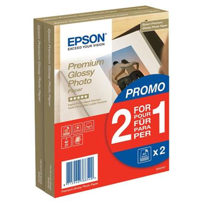 Picture of 2x 40 Epson Premium Glossy Photo Paper 10x15 cm, 255 g