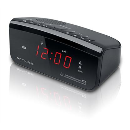 Attēls no Muse Clock radio PLL M-12CR Black, Alarm function