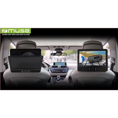 Attēls no Muse DVD Player for vehicles. M-990CVB 2pcs separate players set.  Speakers, USB connectivity, MP3, JPEG and DivX playback
